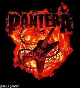 PANTERA-cd-lgo-SNAKE-GUITAR-IN-FLAMES-Official-SHIRT-LRG-New-dimebag-darrell