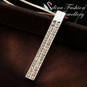 18K-Rose-Gold-Plated-Simulated-Diamond-Studded-Stylish-Strip-Necklace-Jewellery
