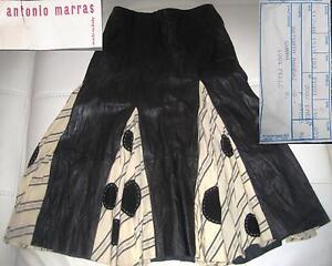 Antonio Skirt Rock Leather Pois Trend 2018 Marras Gonna Leder Bianco Nero Pelle w4qFRAnw