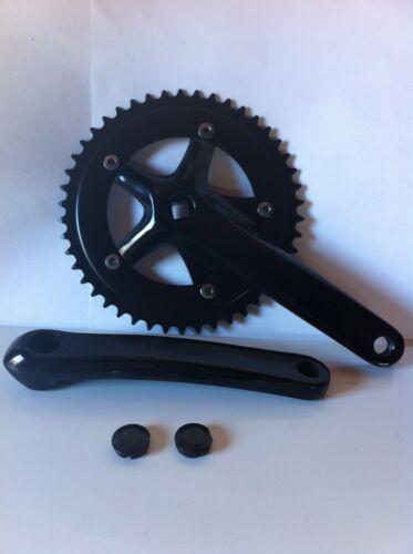 BICYCLE STEEL CRANK SET BLACK 46T X 175MM CRUISER BMX MTB LOWRIDER CYCLING BIKES