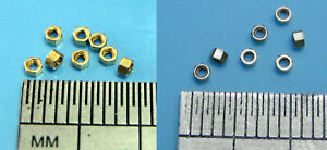 Miniature-Brass-Hex-Open-Full-Nuts-x10-M0-6-M0-8-M1-0-M1-2-M1-4-M1-6
