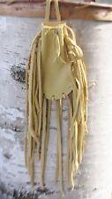 "Native American Medicine Bag Palomino 4 1/2""x3"" William Lattie Cherokee Cert Aut"