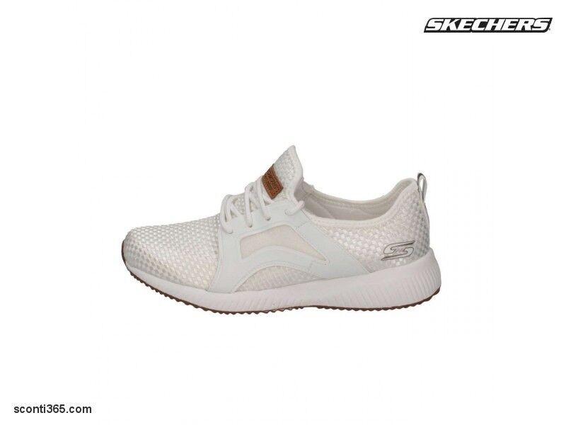 Skechers Schuhe Bobs Squad Insta Cool, tempo libero, Damenschuhe-Art. 31365/WHT (WEISS