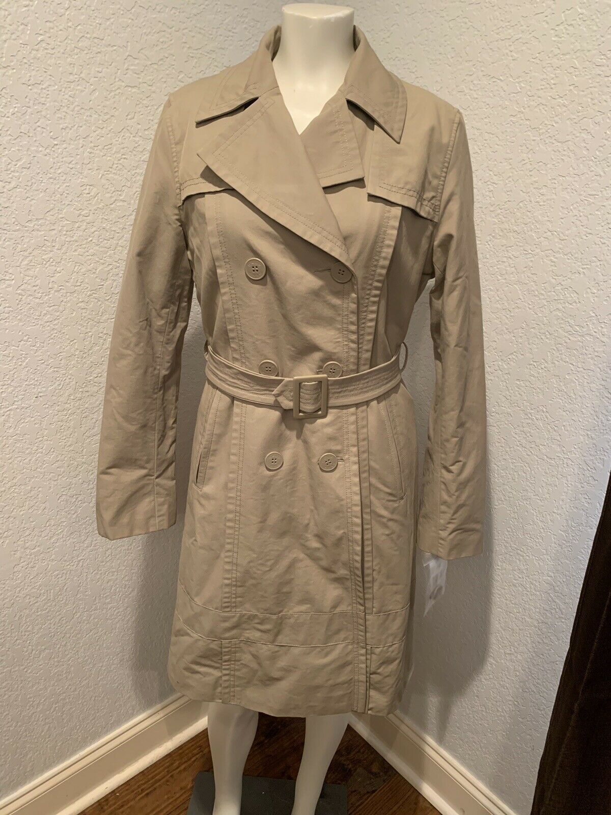 DKNY women Karan New York Saddle Trench Coat Woman's Small