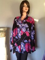 Blouse Shirt 2x Button Down Floral Designer Fashion American Angel Ii Plus Size