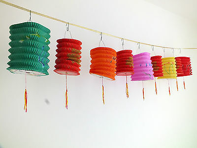 6 M COLOR S RED LUCK PAPER LANTERN 2.5M GARLAND BUNTING CHINESE BIRTHDAY PARTY
