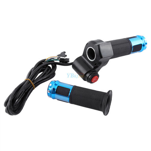 5PCS EBike Scooter Throttle Grip 24 36 48 60v Handlebar LED Digital Meter 3Speed