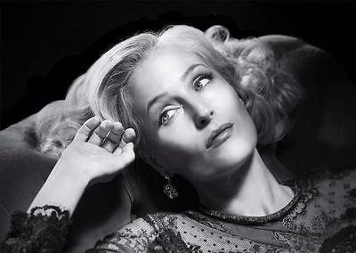 Encadrée Imprimer-Gillian Anderson Noir /& blanc photo poster ACTRICE ACTEUR ART