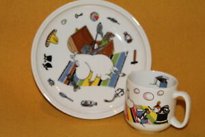 Arabia Moomin Mug and Plate / Children's Set / Moomintroll