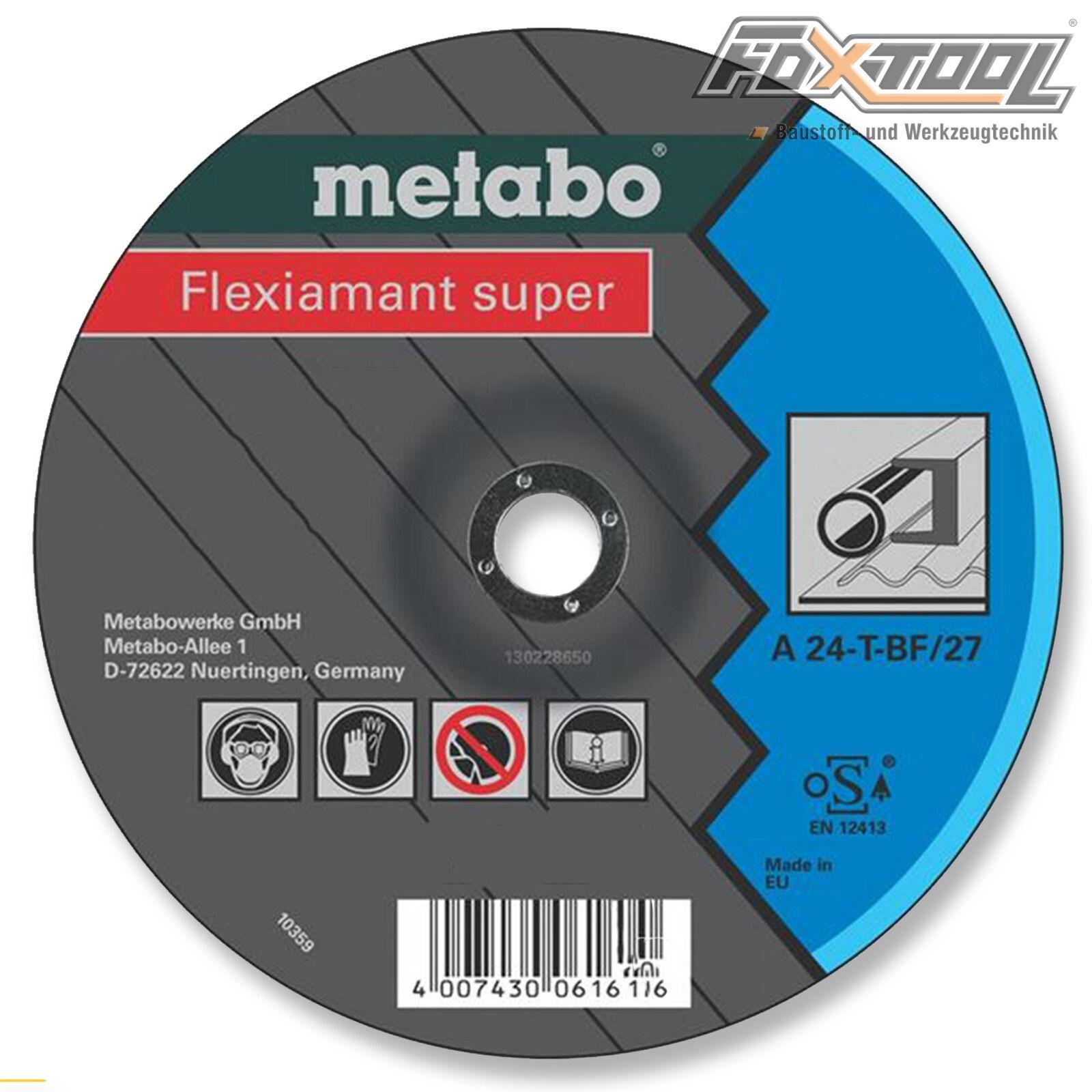 Metabo Flexiamant super 125x6x22,2 Stahl  Winkelschleifer Schleifen