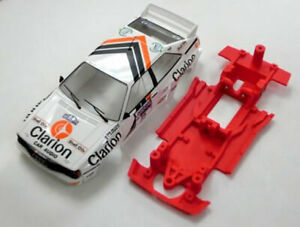 Chasis-Block-Lineal-Audi-Quattro-compatible-Fly-Mustang-Slot-carroceria-no-venta