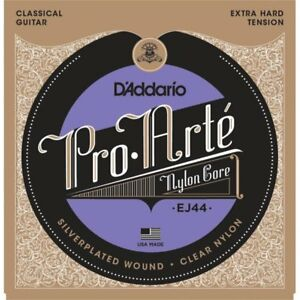 D-039-Addario-EJ44-039-Pro-Arte-039-Silver-Clear-Classical-strings-X-Hard-Tension