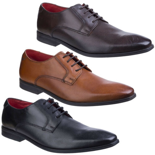 Base London Charles Waxy Formal Leather Lace Up Smart Casual Shoes Mens