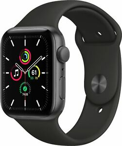 Apple Watch SE 44mm Space Gray Aluminum - Black Sport Band MYDT2LL/A