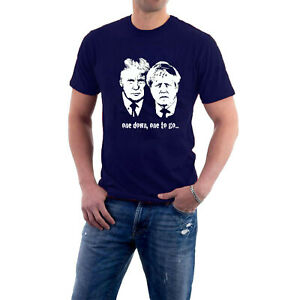BARGAIN OFFER Donald Trump Boris Johnson T-shirt one down, one to go..