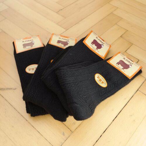 New Turkish Merino Wool Men Black Winter Daily Socks-Warmly 4 Pairs Pack