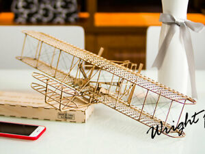 WRIGHT-FLYER-500MM-SCALE-STATIC-BALSA-MODEL-KIT-VC01-BUILDING-KIT-DANCING-WINGS