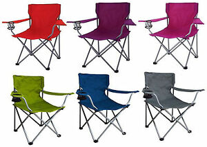 Image Is Loading Portable Folding Outdoor Chair Camping Seat Picnic Beach
