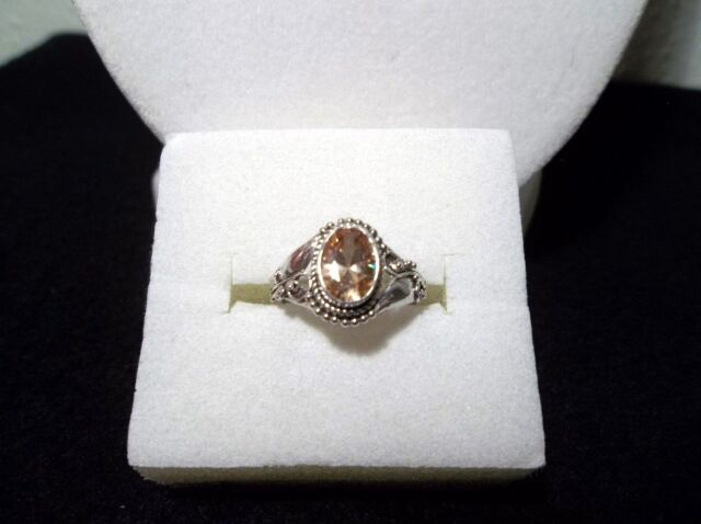 *** Designer Simulated Yellow Sapphire Ring Size 4.5 TCW 2.35 Carets 925 Silver