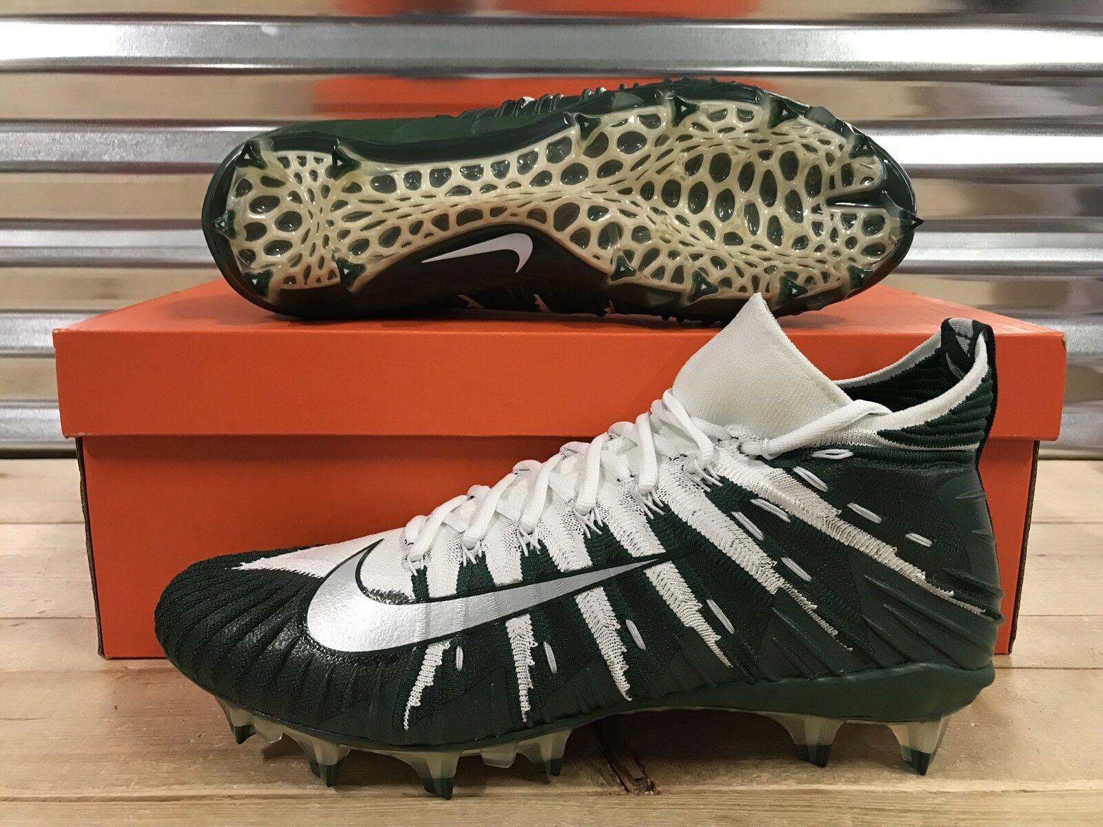 Nike Alpha Menace Elite Football Cleats White Fir Green Silver SZ ( 877141-131 )