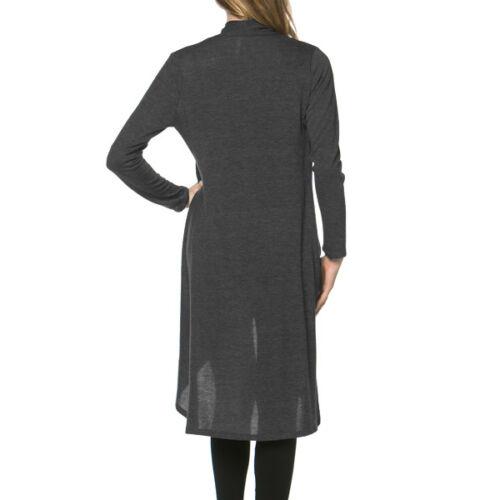 USA Women Maxi Long Cardigan Sweater Coat Knit Open Front Draped Hacci Outwear