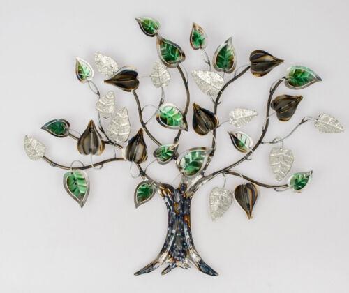 Formano Wanddeko Wandbild Blätterbaum 64 x 56 cm bunt Metall 670588