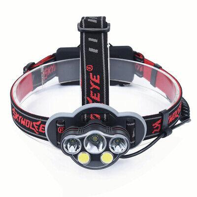 XPE LED Headlamp Head Light Flashlight Head Torch Fishing HU 90000LM XM-L T6