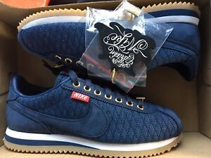 NEW NIKE CORTEZ BASIC MC QS MR MISTER CARTOON BLUE SHOE AA4875-400 ... 559e7efa803e