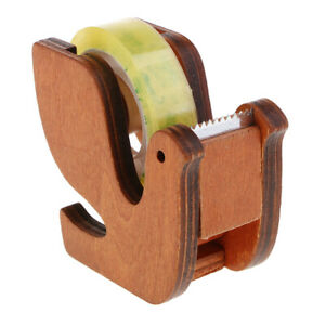 Wooden-Desktop-Washi-Paper-Tape-Dispenser-Cutter-Roll-Tapes-Holders-Storage