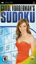 NEW Factory Sealed CAROL VORDERMAN'S SUDOKU for Sony PSP Console
