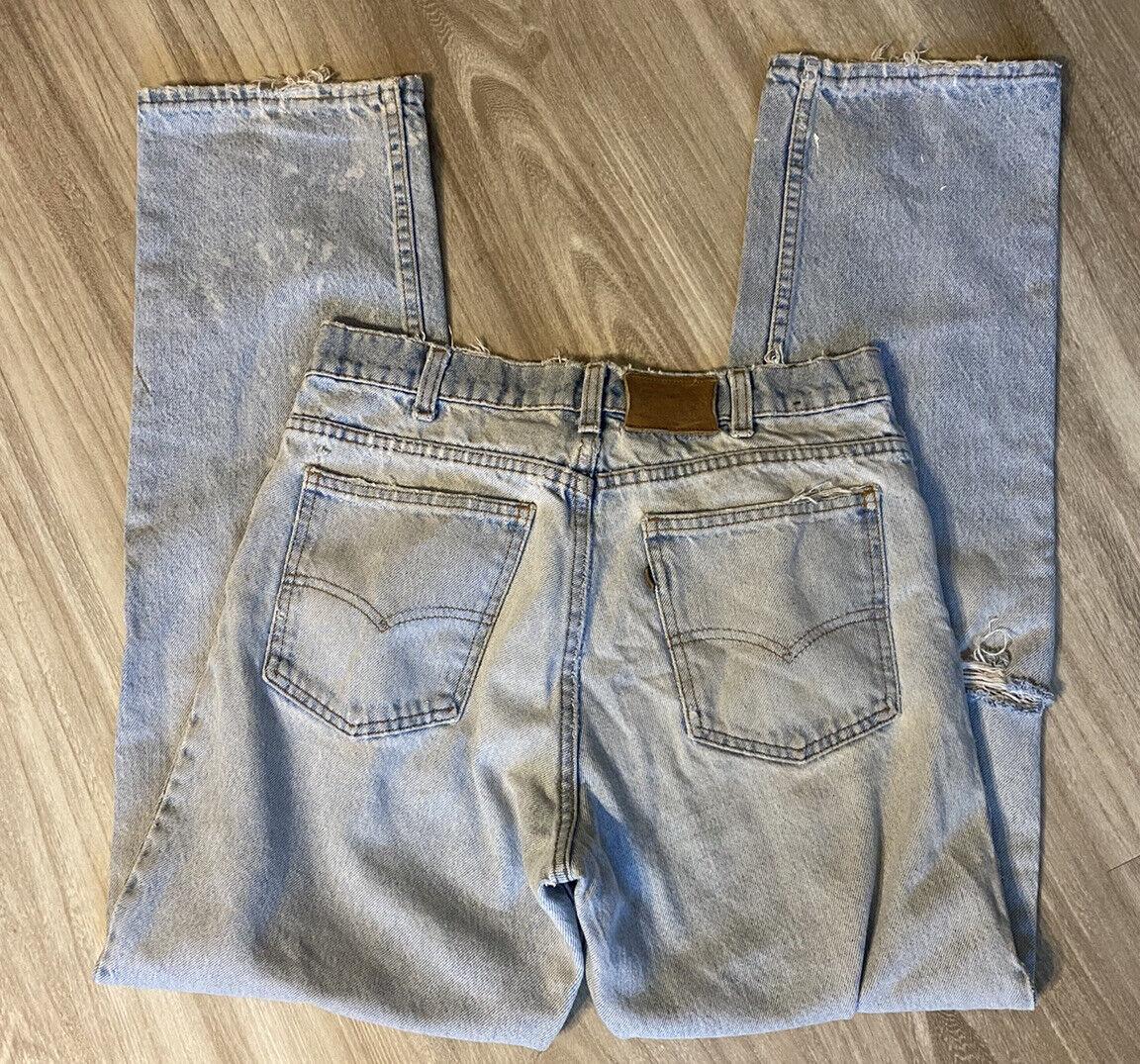 Vintage 90s Levis 540 32 X 32 Distressed Worn Jea… - image 8
