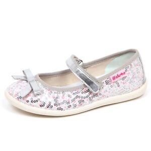 lowest price 46b67 2ad0f Details about E2726 ballerina bimba tissue NATURINO scarpe argento  paillettes shoe kid girl