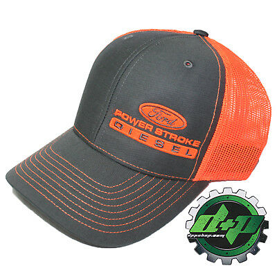 Dodge Cummins trucker hat ball mesh richardson orange gray snap back summer cap