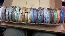 20 coils 25' each (1000ft of wire) Western Electric 22ga PAIRs,cloth mid 1950s