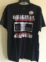 Men's Original Nintendo Gamer Tee Officially Licensed Size L Black