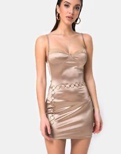 MOTEL-ROCKS-Lesty-Bodycon-Dress-in-Gold-Satin-mr69