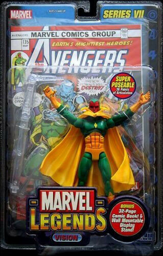 MARVEL LEGENDS Collection Series _VISION 6   action figure_TOYBIZ_New and MIP
