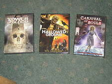 3 brand new DVD Horror Movies Tower Of Blood, Carnival Of Souls, Hallowed Ground