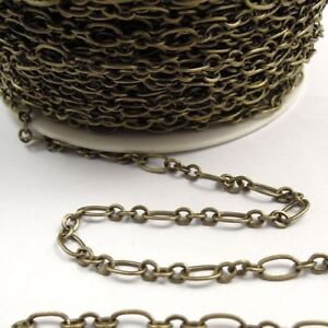 """925 Sterling Silver  3x4mm Dapped Oval Link Cable Chain 12/"""" Footage #5922-4"""