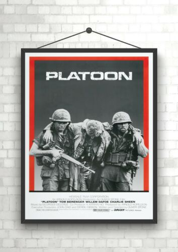 Platoon Vintage Classic Large Movie Poster Print A0 A1 A2 A3 A4