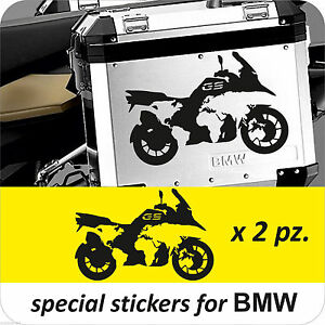 BMW MOTORCYCLE RGSGSA WORLD MAP LRPANNIERSCASES DECAL - Bmw motorcycle stickers and decals