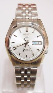 SNK355-Stainless-Steel-Band-Automatic-Men-039-s-White-Watch-SNK355K1-SEIKO-5-New