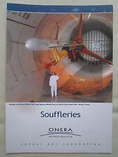 DEPLIANT ONERA AEROSPACE LABORATORY SOUFFLERIE TRANSSONIQUE WIND TUNNEL MODANE