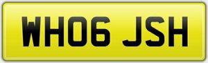 WH06-JSH-RARE-CAR-REG-NUMBER-PLATE-NOTHING-MORE-TO-PAY-JOSH-JOSHY-JOSHUA-JS-JH