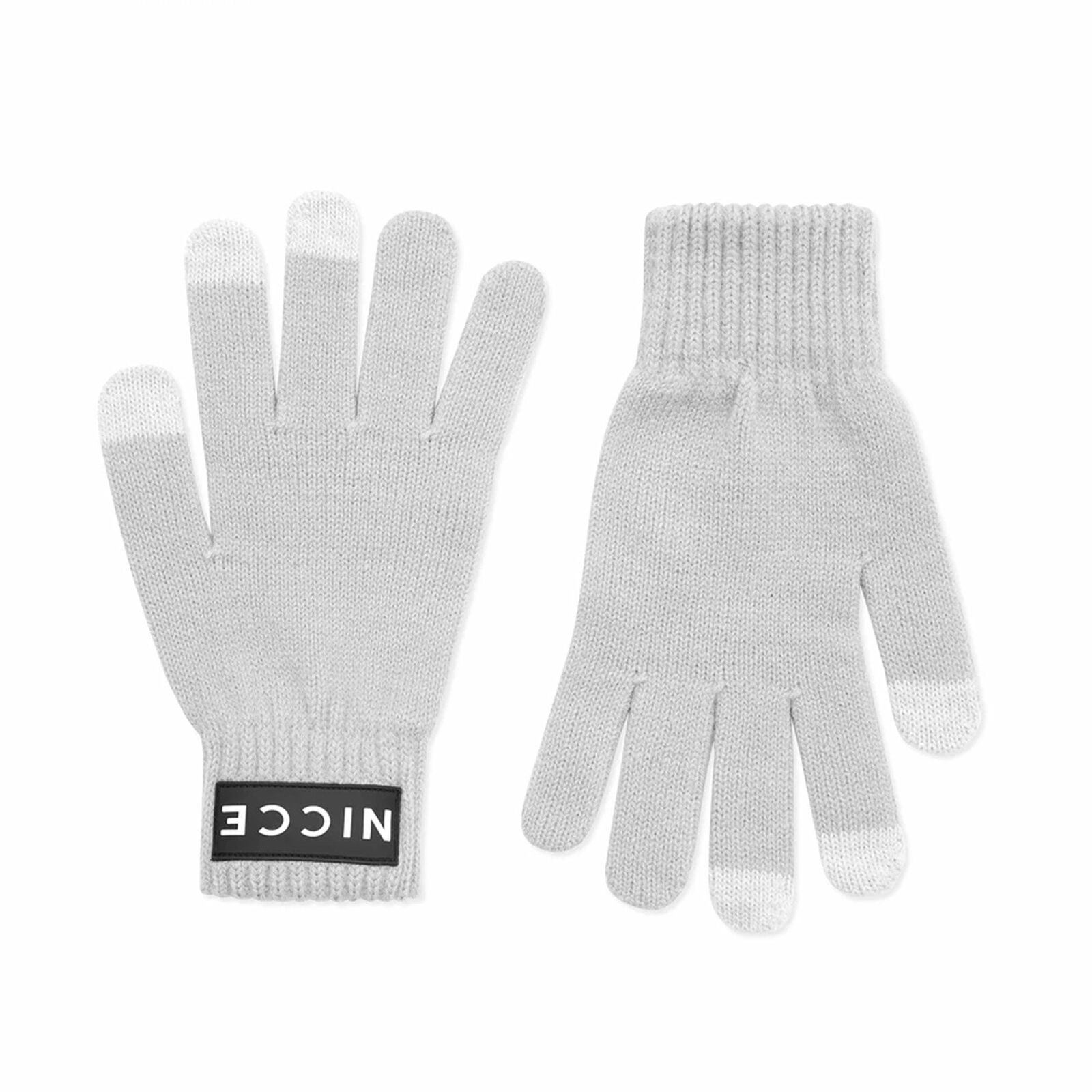 Nicce Pax Knitted Gloves Grey