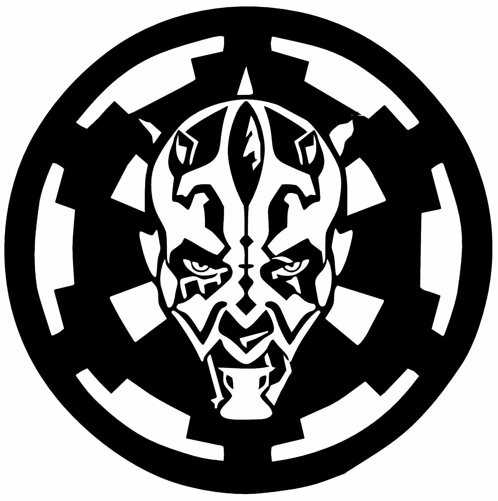 Bantha skull darth maul over empire vinyl decal