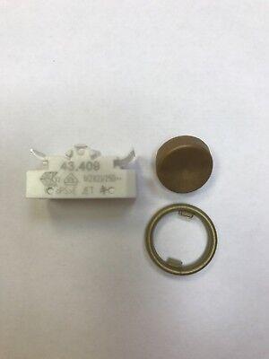 BJB Wippschalter 43.409 Schalter runde Wippe braun Leuchteneinbau Lampen