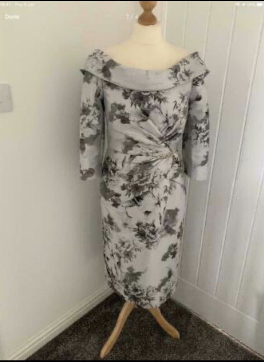 Irresistible By Veromia Mother Of Bride Occasion Bardot Dress Rrp