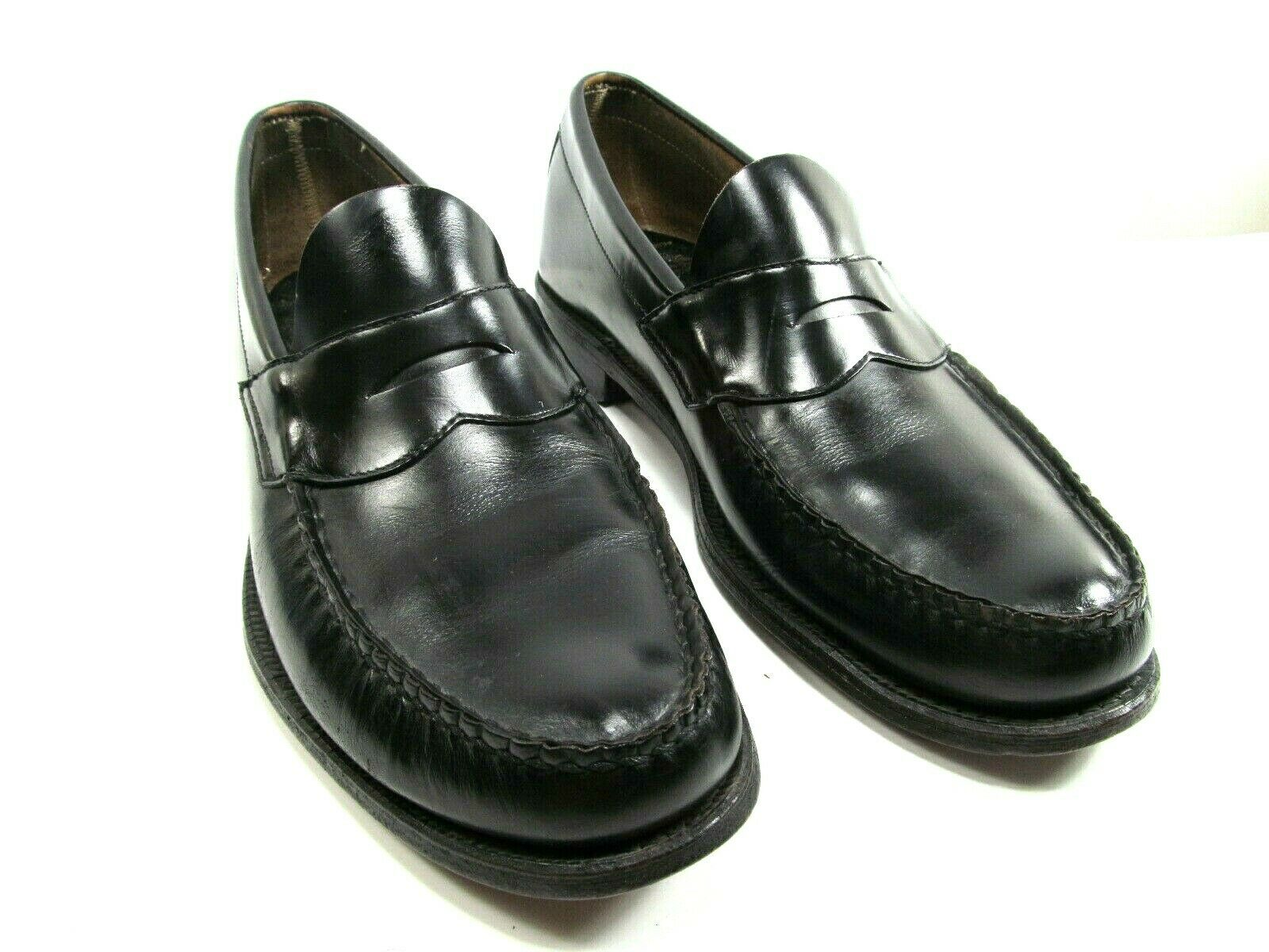 Johnston Murphy Aristocraft Mens Black Leather Penny Loafers Size US 9.5 C