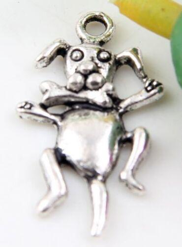Wholesale 23//51Pcs Tibetan Silver dog  Charms  27x14mm Lead-free